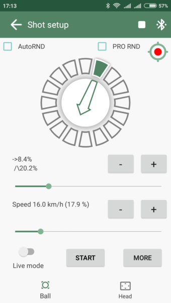 Top spin with separated spin parts