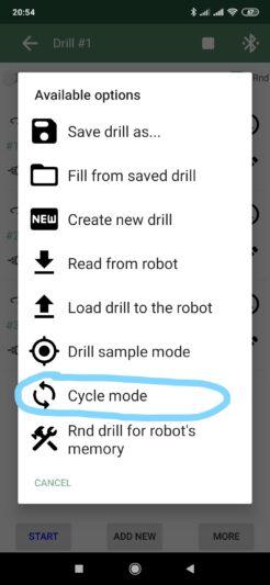 CycleModeDrillMenu