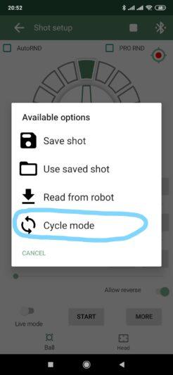 CycleModeSingleShotMenu