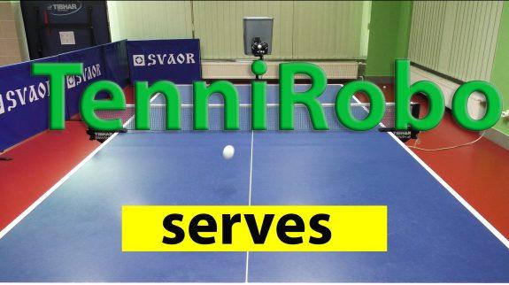 TenniRobo-Serves